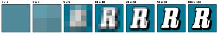 Resolução da imagem mantendo as mesmas dimensões, quanto maior a resolução, mais detalhes