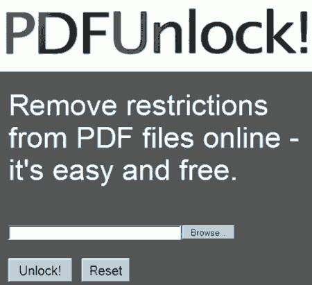 Retirar password e restrições de arquivos PDF, senha – Online grátis