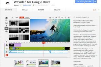 Editor de vídeo online - Funciona em qualquer navegador, no exemplo o App para o Google Chrome