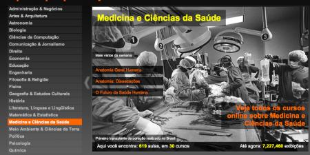 Mais de 212 cursos online grátis e mais de 4700 aulas em português