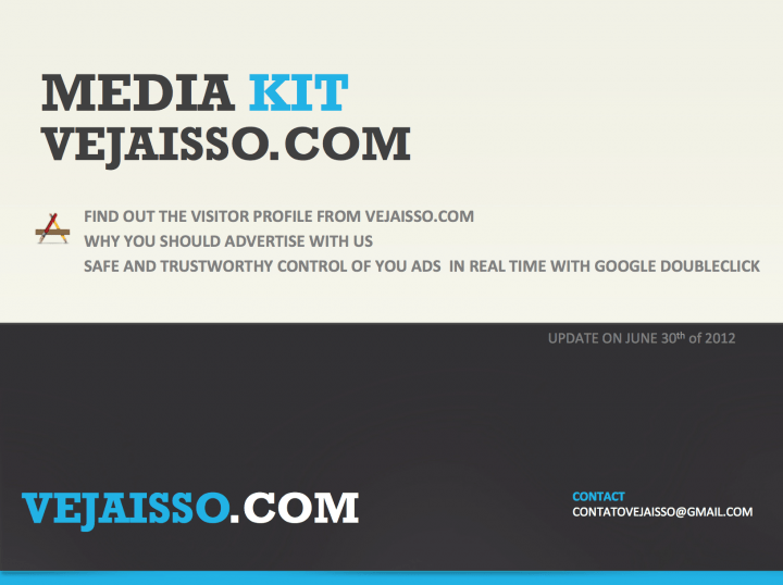 Media kit of Vejaisso.com in English