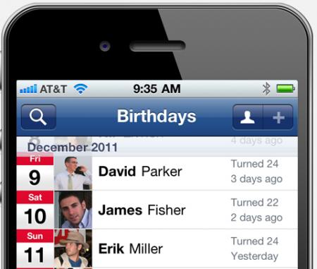 Sincronizar os aniversários do Facebook com iPhone ou iPad - No próprio contato vai ser adicionar o campo aniversário e vai aparecer no calendario do iOS