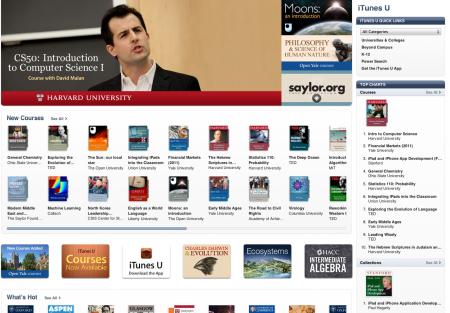 iTunesU - Todas as universidades dentro do iTunes da Apple, para seu iPad, iPhone e iPod