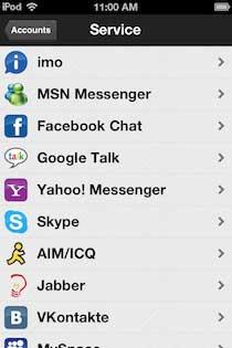 Baixar o app grátis para iPhone do Imo.im para integrar o MSN, Facebook, Skype e Gtalk