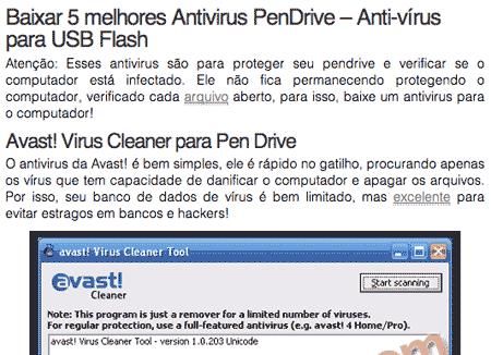 Baixar os 5 melhores antivírus de Pendrive