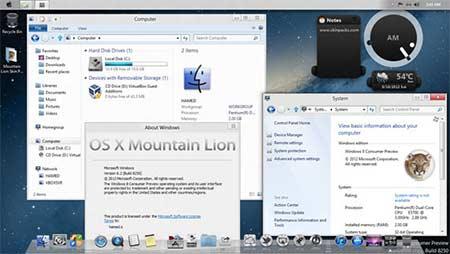Baixar skin para transformar o Windows 8 em Mac OS X, mudar tema do PC