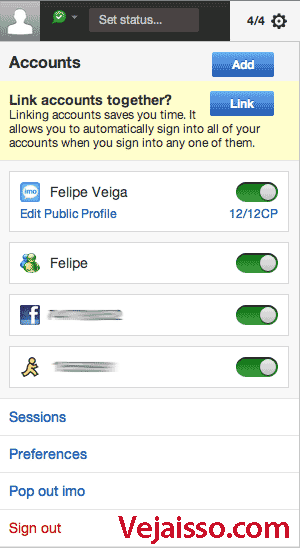 Como usar o imo.im igual a um programa de chat