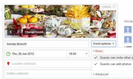 Criar um evento no Google+ é muito simples e legal, cria um lugar para as pessoas conversar a respeito, compartilhar as fotos e organizar a festa