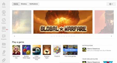 Games no Google+ - Uma excelente opção com muitos jogos para jogar online com os amigos