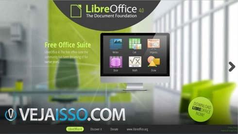 Libre Office é outra excelente opção de editor de texto, planilha e apresentação (DOC, XLS e PPT) direto do pen drive, em português