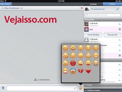 Usar o imo.im no iPad de graça - Conectar MSN, Facebook, Google+ e Google Talk, Skype e todas as outras redes em um só lugar