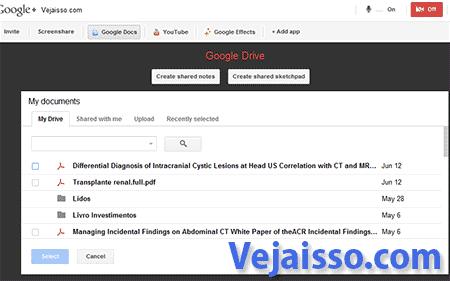 Como editar documentos de texto apresentações como o Google HangOuts