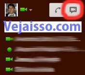 Iniciar uma reunião com video e chat diretamente a partir do chat do Gmail clicando no botão da videoconferência