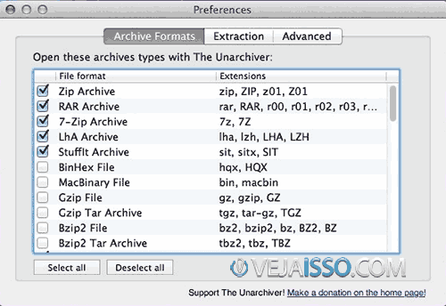 UnArchiver o melhor descompactador de arquivos ZIP, RAR e 7ZIP do Mac