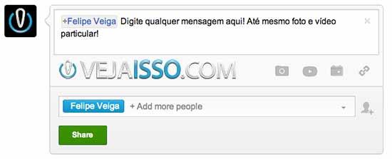 Mandar mensagem privada no Google+ não é intuitivo, mas é bem fácil