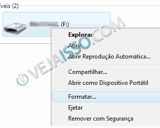 Para instalar o BackTrack no pen drive, primeiro voce vai precisar formatar o Pen drive ao clicar no lado direito e escolher formatar