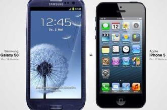 Você pode escolher qualquer smartphone para comparar mas atualmente Galaxy S3 e iPhone 5 é a mais famosa escolha de comparar celular e tablet
