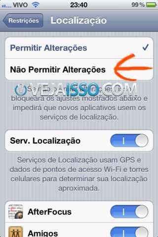 Altere as restrições de GPS e localização para não permitir alterações, dessa forma ninguem podera alterar os programas que acessam o GPS sem a sua senha