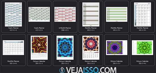 Baixar programa para criar seu calendário personalizado grátis - Mais de 10 tipos de modelos de calendarios para selecionar