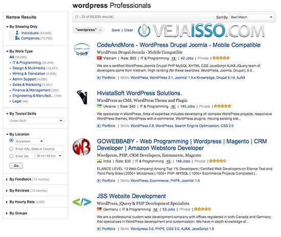 Elance a maior e mais usada comunidade de Freelancers no Mundo - Melhor lugar para contratar Freelancer internacionais