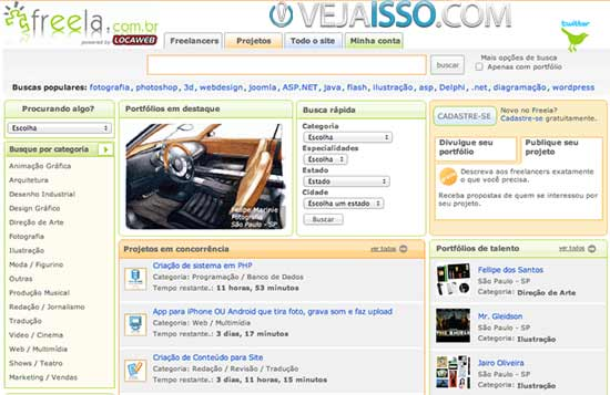 Freela.com.br o maior site para encontrar vagas freelancer grátis