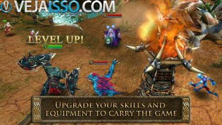 Heroes of Order & Chaos e o primeiro MOBA game, no estilo DOTA e League of Legends para iPhone e iPod