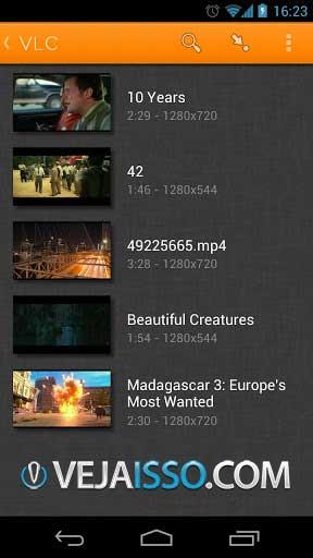 VLC o melhor app para ver videos no Android e ainda por cima grátis