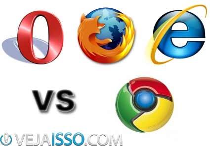 Comparação entre os browsers de internet para escolher o melhor navegador de internet de 2013