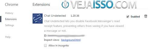 Desinstalar o plugin Chat Undetected tambem e muito facil no Google Chrome