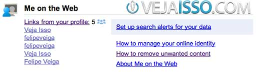 Eu na Web a solução do Google para ajudar a gerenciar sua reputacao na internet e remover resultados do Google ao buscar seu nome