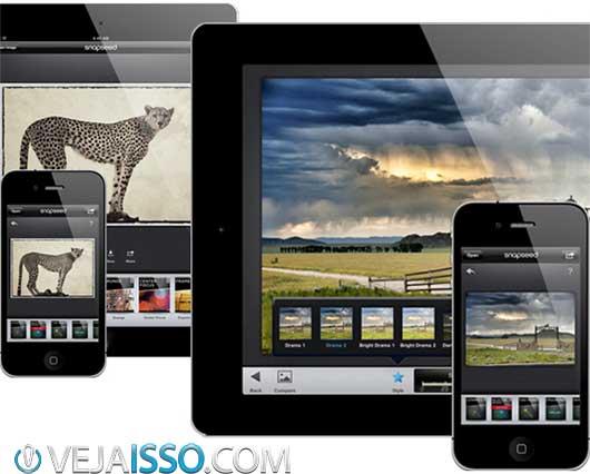 Snapseed permite edição profissional de fotos com poucos cliques - melhorar cor, saturação e contraste, além de muitos efeitos e filtros