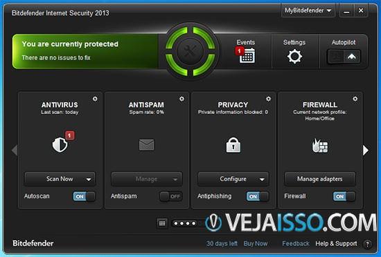 BitDefender Internet Security - O melhor antivírus para Windows em 2013