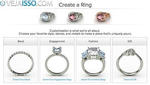 Criar anéis e brincos do seu jeito e comprar online - GEMVARA outra excelente opção