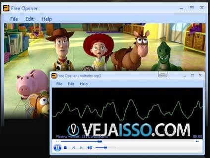 Free Opener permite ser o programa faz tudo do seu computador, lendo todos os formatos de video e audio, utilizando os codecs do klite codec pack para isso