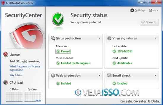G Data Antivirus um dos 5 melhores anti-vírus para Windows 8 de 2013