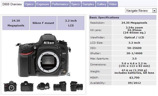 Imaging Resource o outro grande site de avaliação e comparação de máquinas fotográficas