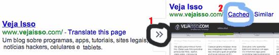 Acessar sites pelo cache do Google permite ver o texto contido naquele site sem acessar ele, mas você não verá as imagens nem poderá entrar com login no site