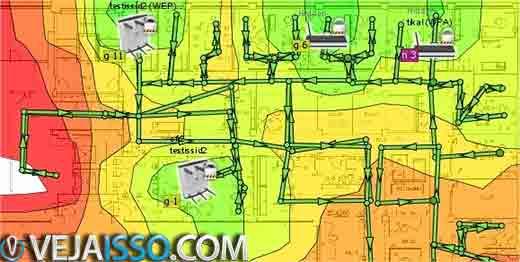 Com um mapa de quente e frio é possivel facilmente identificar áreas não cobertas pela rede wifi, seja por erro de configuração ou seja pela potência do sinal do roteador e da placa de rede