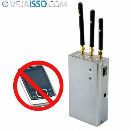 Aparência de um cell phone jammer ou bloqueador de sinal de celular, já usado em escolas, presídios e escritórios que contém informações sigilosas