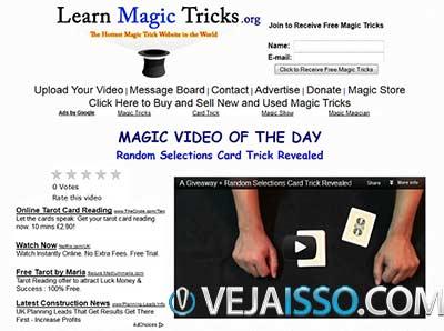 Learn Magic Tricks diariamente atualiza com novos truques sendo perfeito para aprender algo novo sobre o mundo da magia diariamente