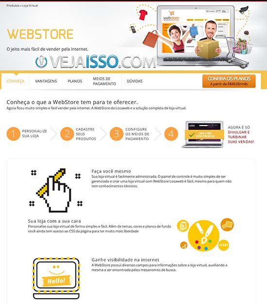 LocaWeb WebStore - Cobrança por número de produtos publicados e suporte de renome