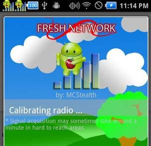 Um app muito suspeito para Android que muda a barra de sinal no canto superior e ainda finge calibrar melhor o radio do celular