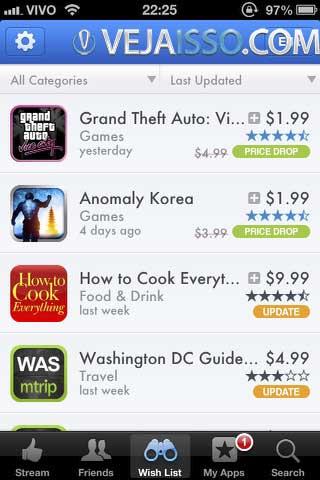 App do AppShopper permite que você veja quais os apps que estão com desconto e ainda baixar diretamente do celular, além de acompanhar os apps que você quer comprar quando estiverem grátis