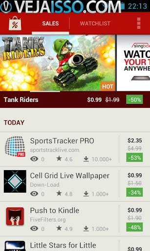 AppSales é a versão do Android do aplicativo para baixar app grátis Android celular e tablet