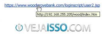 Exemplo de link que mostra uma coisa mas na verdade aponta para outro lugar, facilitando scams