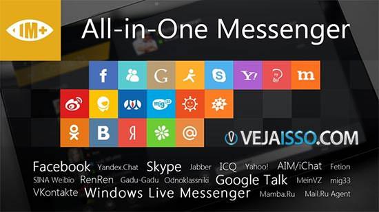 IM+ é o mais completo e melhor programa de conversa e mensagens para o Windows 8