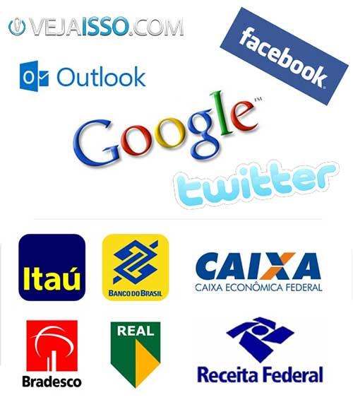 Marcas famosas sempre são usadas como escudo para dar credibilidade aos Golpes Virtuais como os Bancos, Receita Federal e sites das redes sociais