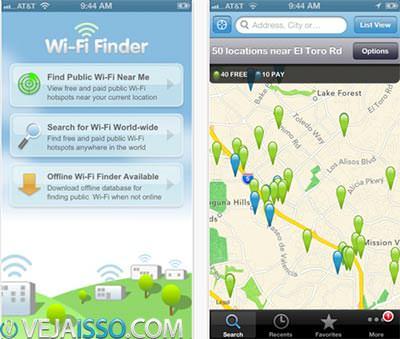 Wi-Fi Finder utiliza a tecnologia JiWire para encontrar Wifi Gratis utilizando o GPS do seu celular e tablet