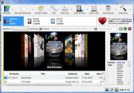Calibre o todo poderoso dos ebooks - gerencia, obtem informacoes, sincroniza, converte e ainda organiza todos livros no computador
