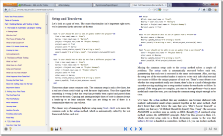EpubReader para Firefox - Simples, relativamente leve e abre a grande maioria dos arquivos